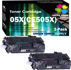 (2-Pack) Compatible 05X CE505X Toner Cartridge 505X Used HP Laserjet P2055dn P2055 P2055D P2055X Pro 400 Pro 400 M401n M401dne M401dw MFP M425dn Printer, by GTS