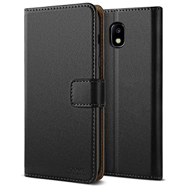 separation shoes d2187 ec4d8 HOOMIL Galaxy J5 2017 Case Premium Leather Case for Samsung Galaxy J5 2017  Phone Cover (Black)