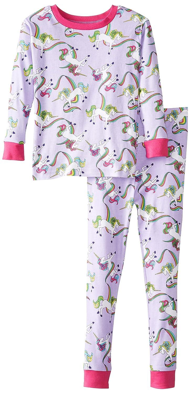 New Jammies Baby Girls Rainbow Unicorns Organic Pajama Set