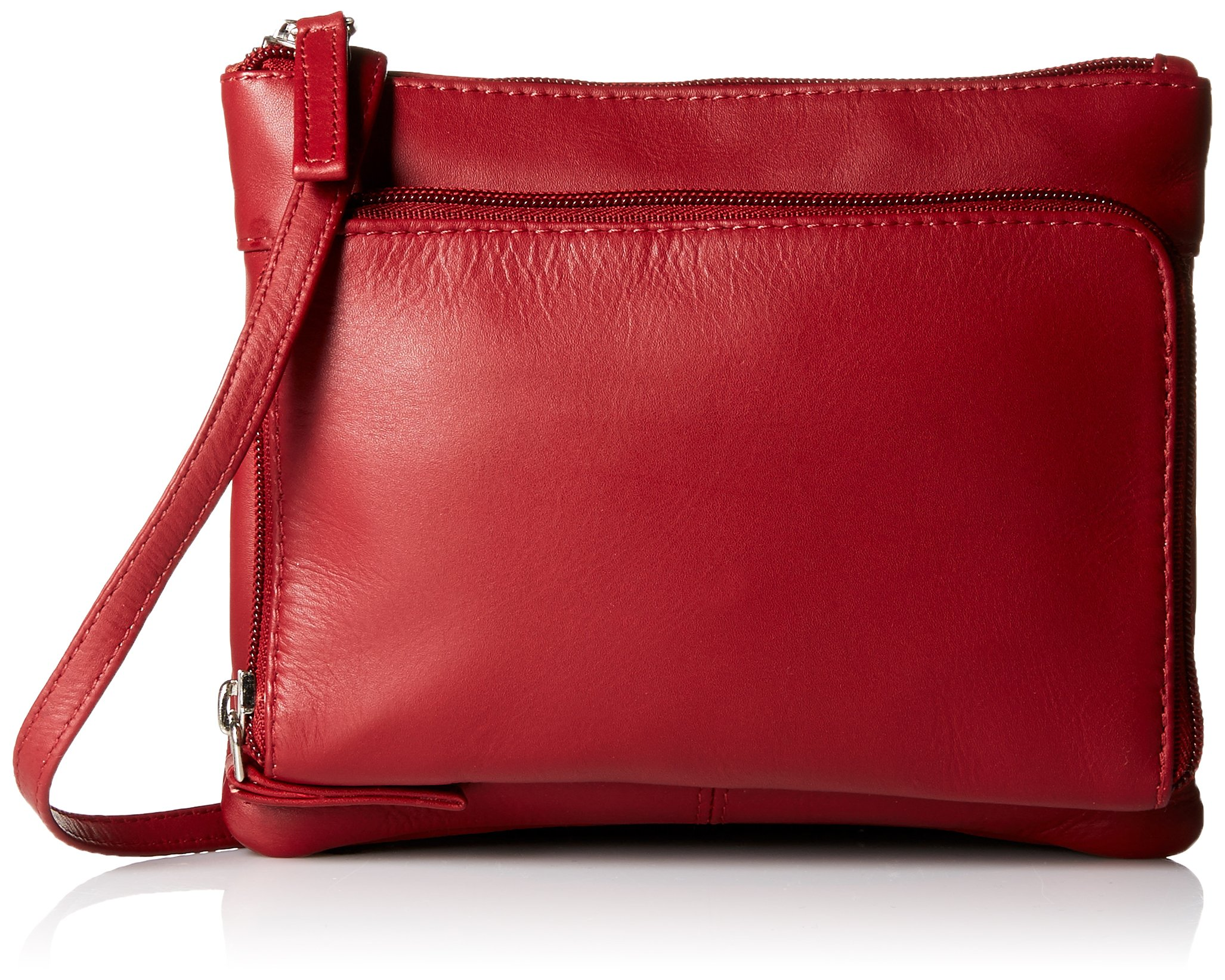 Visconti Visconti Sling Bag Handbag, Leather Messenger Bag for Ladies, Red, One Size