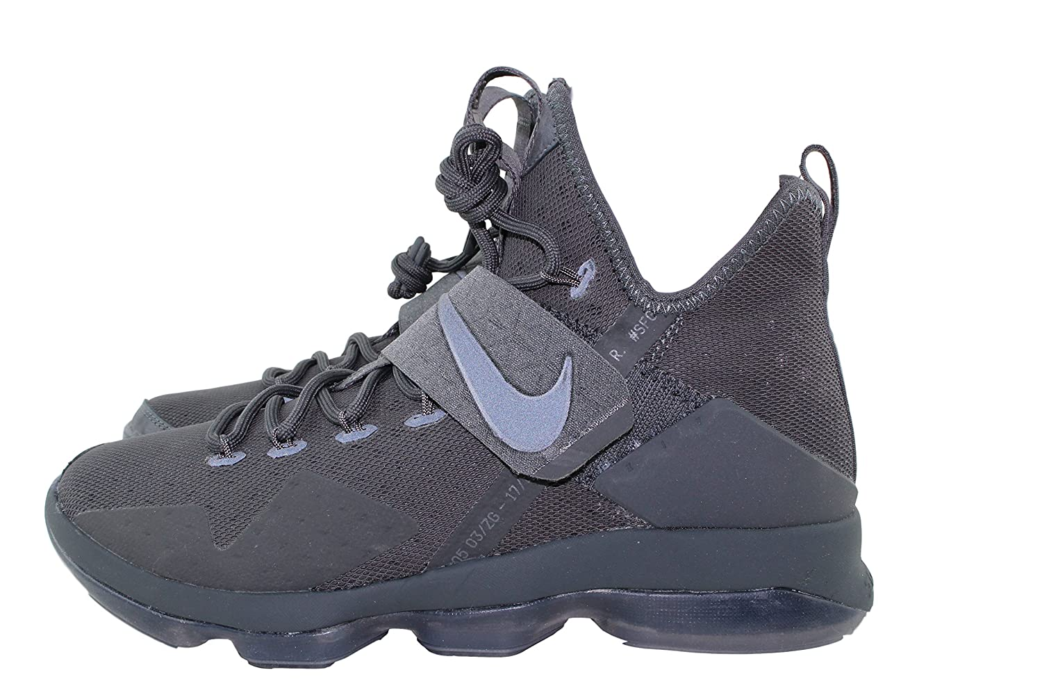 on sale 313fa af7bc Amazon.com  NIKE Lebron XIV 14 Limited Triple Black Anthracite Zero Dark  Thirty-23 (852402-002) (9.5)  Shoes