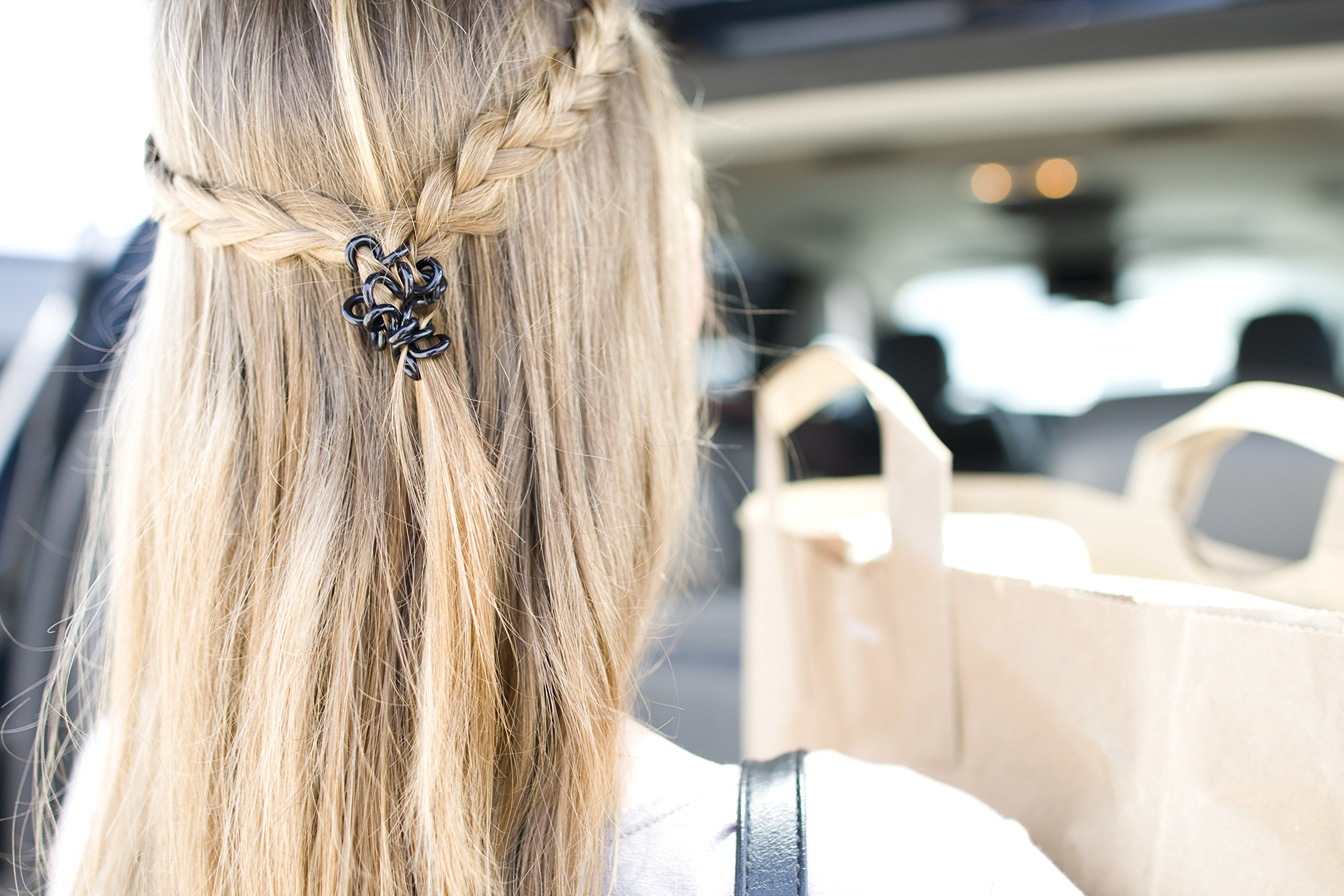Painless PATENTED OOO Hair Ties. Ponytail holder spiral coil no traceless rubber bands. Best kids girls woman accessory all types of hair. Exercise, workouts & everyday (Metallics) by OOO (Image #7)