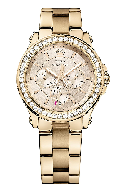 Juicy Couture Damen-Armbanduhr Pedigree Analog Quarz Rotgold 1901050