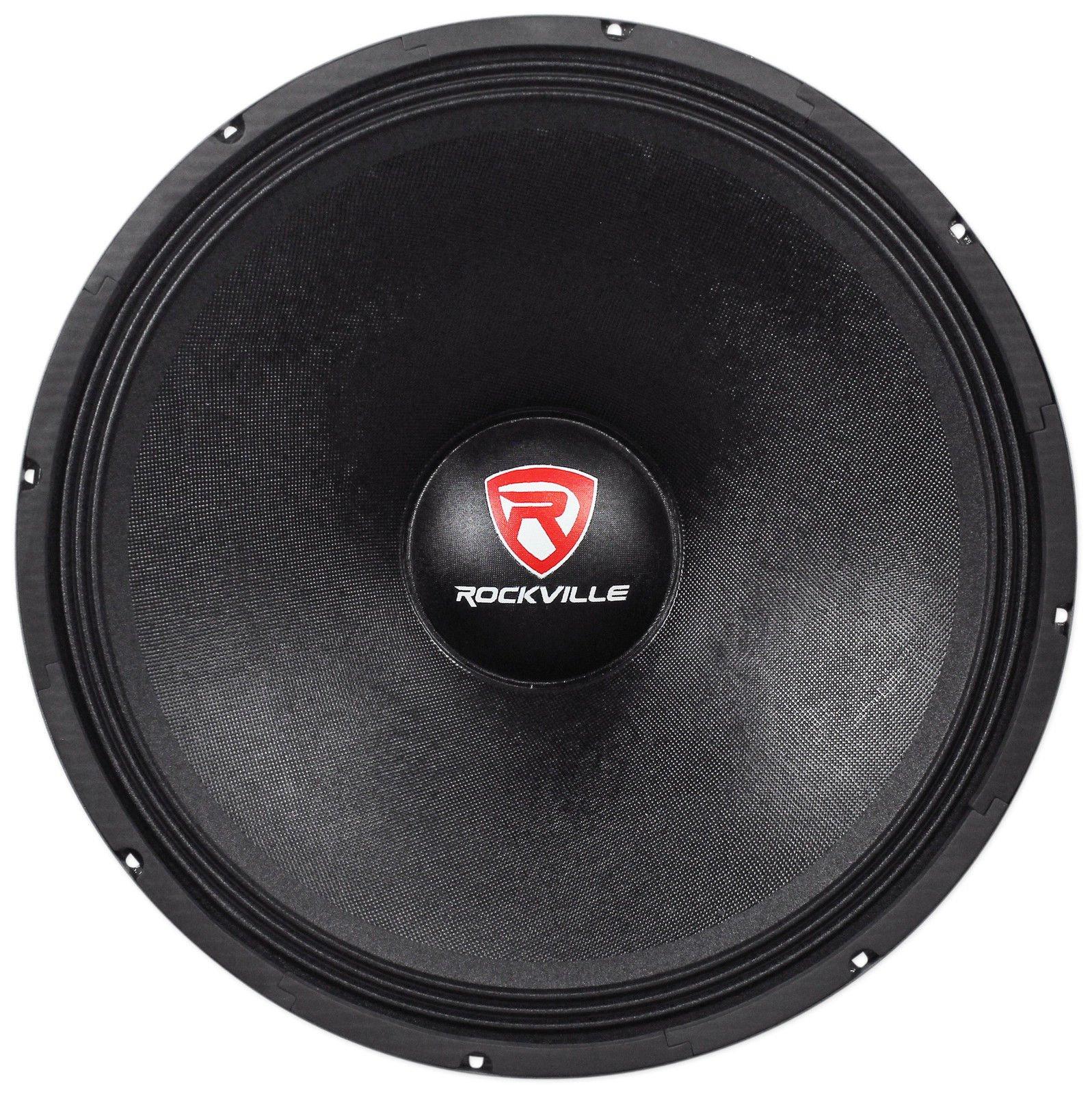 Rockville RVW1800P4 1800w 18'' Raw DJ Subwoofer 4 Ohm Sub Woofer 107OZ Magnet