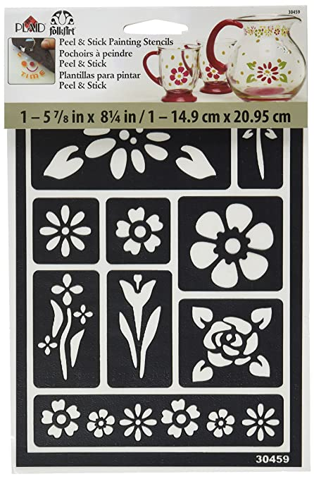 FolkArt Peel And Stick Painting Stencil 30459 Floral