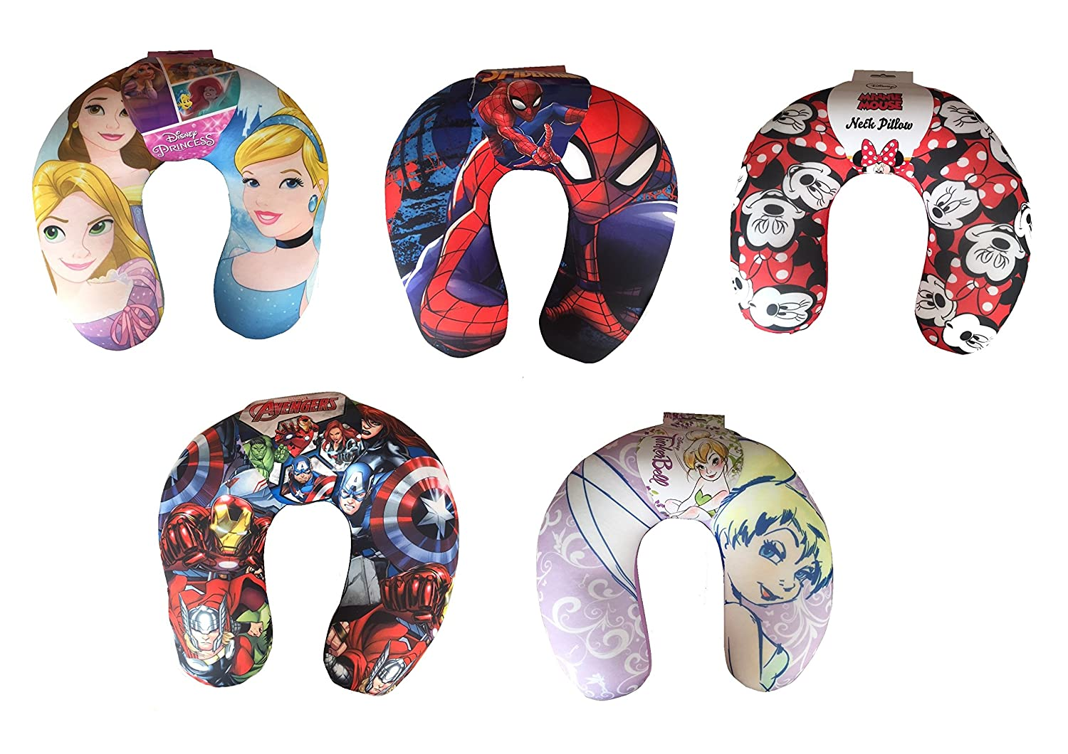 Kids Cartoon/Film Themed U Shaped Comfy Relaxing Neck Support Pillow Cushion (Disney Princess) Kids Neck Pillows
