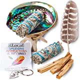 Smudge Kit - Sage, Palo Santo, Abalone Shell, Tripod, Feather & Free Gift!! Healing, Smudging, Cleansing, Purifying, Stress Relief