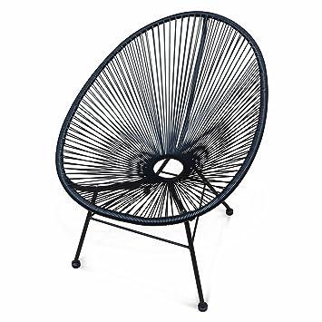 Aliceu0027s Garden   Egg Designer String Chair   Acapulco Black   PVC Designer String  Chair