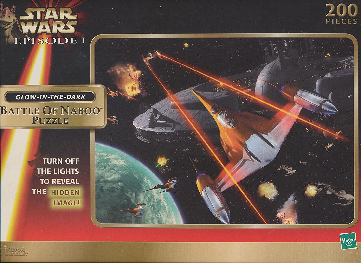 Star Star Star Wars Episode I Mos Espa Podrace Puzzle Glow in the Dark 200 Pieces by Hasbro 635676