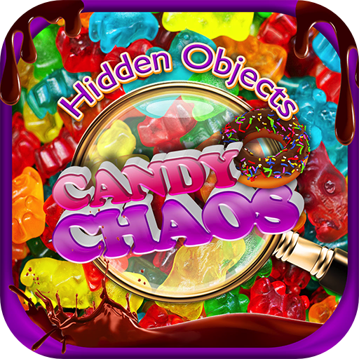 Hidden Objects Candy Chaos & Dessert Junk Food - Chocolate, Cupcakes, Donuts Object Time Puzzle Photo Pic FREE Game & Spot the Difference]()