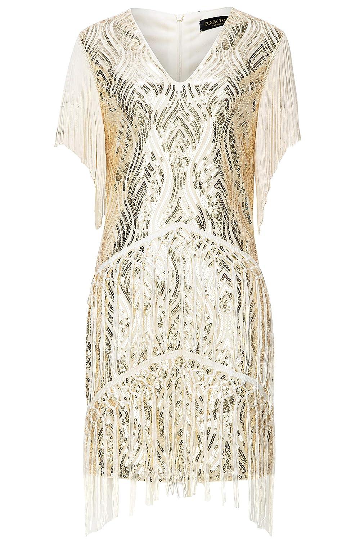 5088ac0673 BABEYOND 1920s Flapper Dress Long Fringed Gatsby Dress Roaring 20s Sequins  Beaded Dress Vintage Art Deco larger image