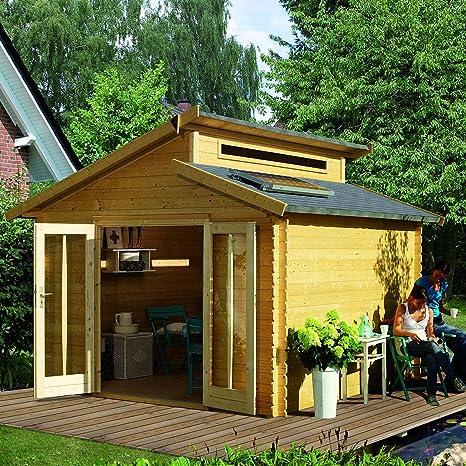 Caseta de jardín madera 13,28 m2 VARMLAND L304xP304xH253cm () 28 mm