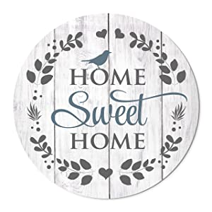 MRC Wood Products Home Sweet Home Round Barnwood Sign 16 Inches