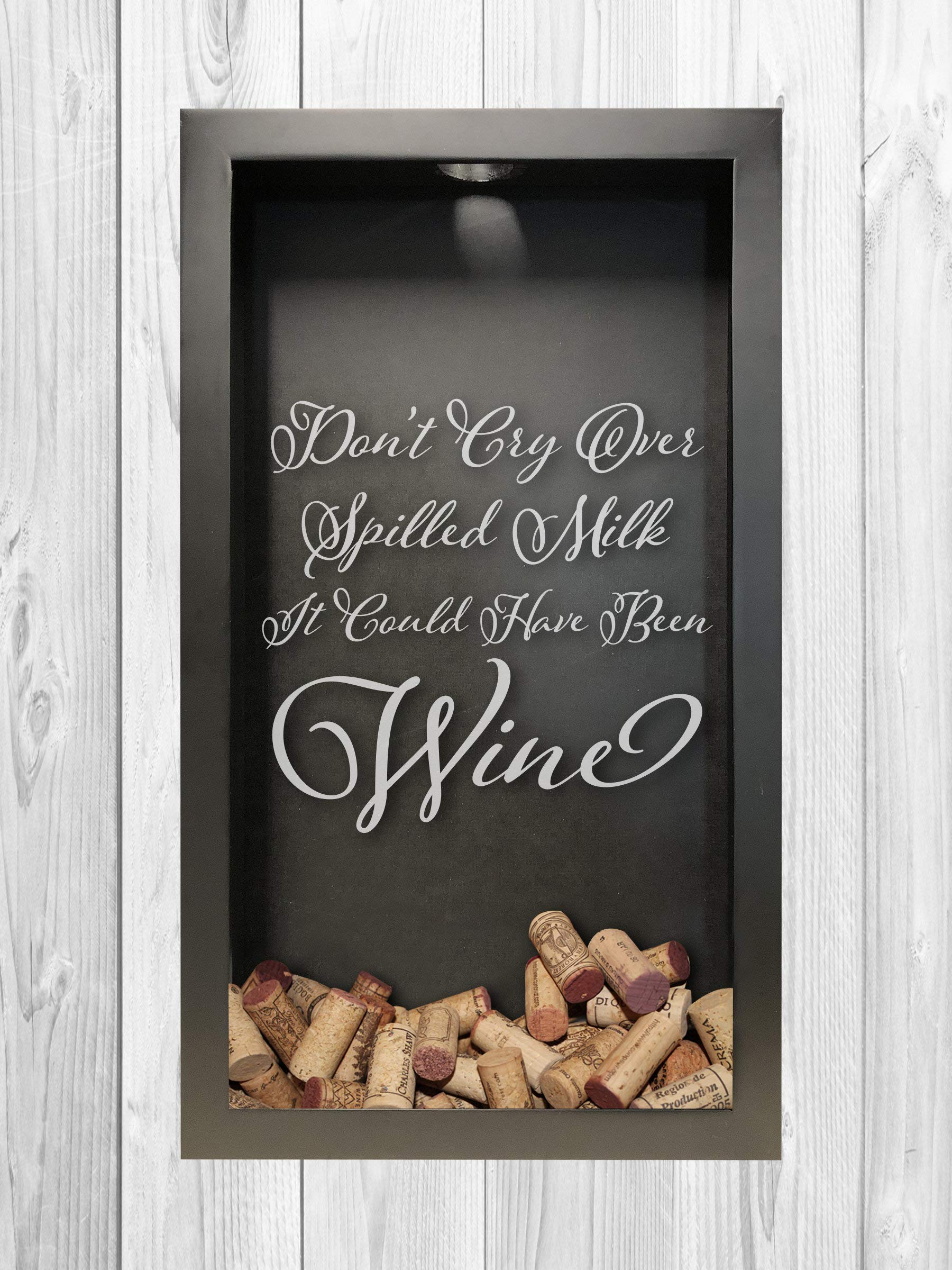Wine Cork Shadow Box, Spilled Milk, Wine Shadow Box, Shadow Box Décor