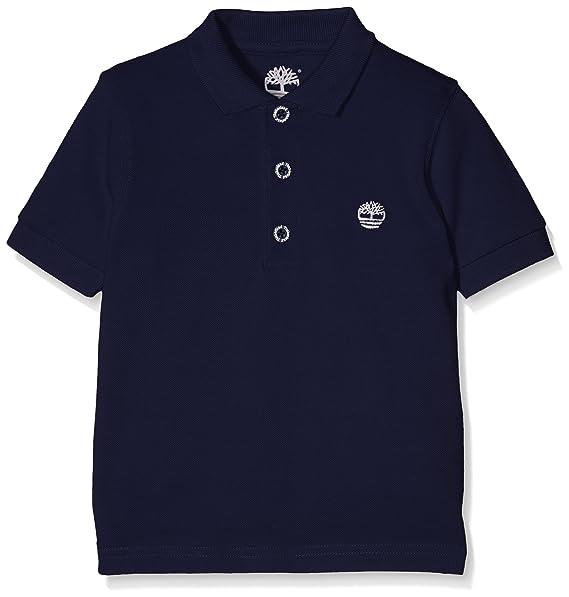 Timberland Short Sleeve Polo, Camisetas para Bebés, Azul (Indigo ...