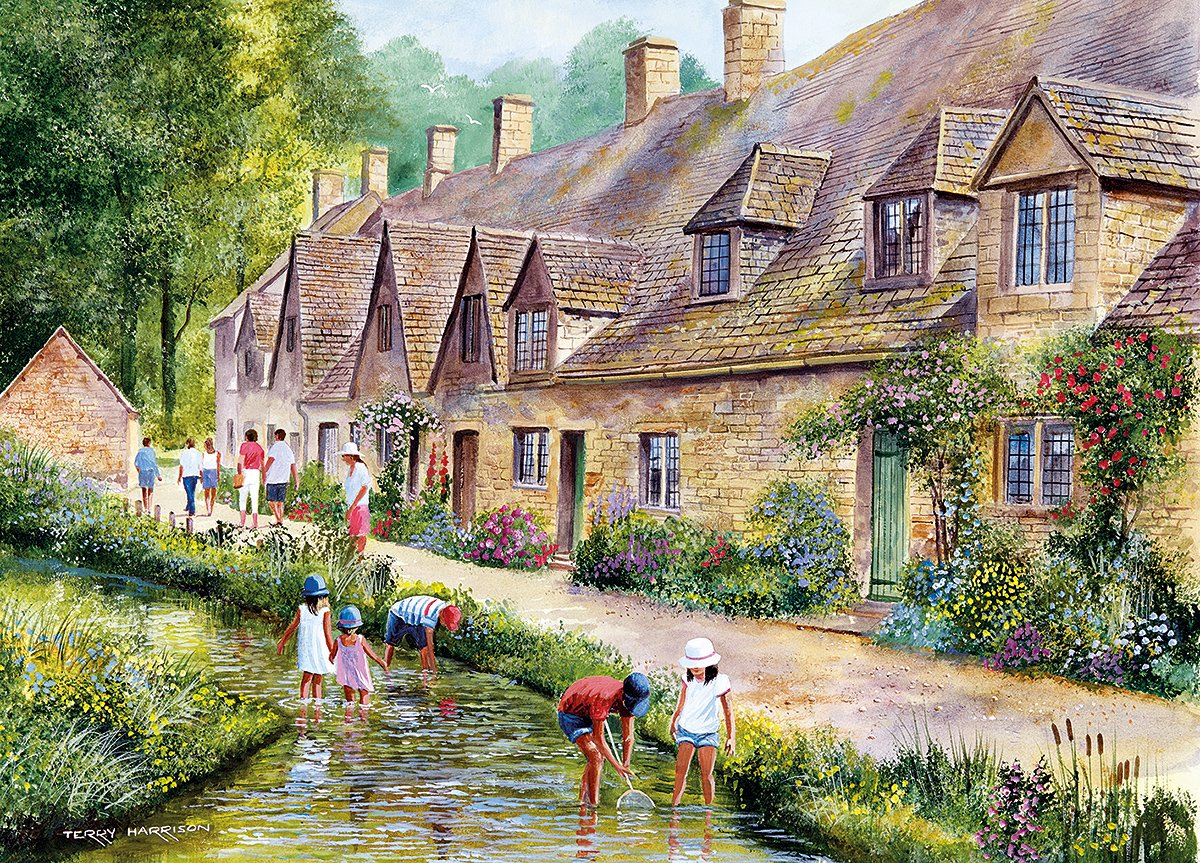 amazon com gibsons cotswold villages jigsaw puzzles 2 x 1000