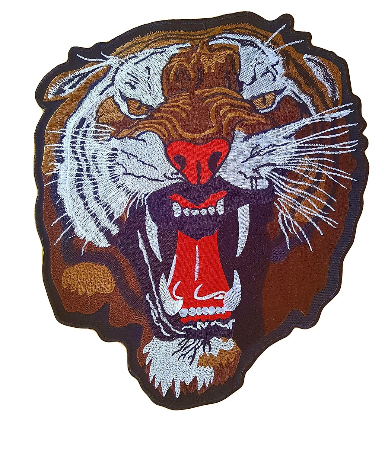 Big XL Iron on Patch - Tiger Animal -