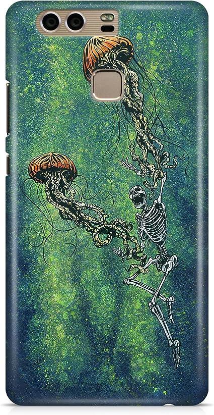Cover Custodia Meduse Teschio Jellyfish Skull Verde Green Disegno ...