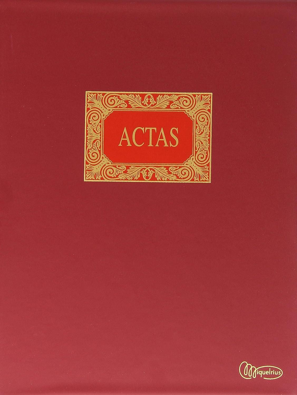 Miquelrius - Libro de Contabilidad, A4 15 anillas, Actas Móviles, 100 hojas lisas (foliadas)