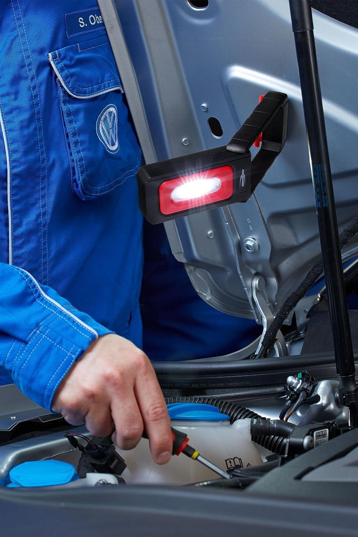 AAA Batterien Profi Arbeitslampe 220 Lumen flexibel /& magnetisch Vielseitige LED Taschenlampe f/ür Auto /& Werkstatt Zubeh/ör ANSMANN LED Werkstattlampe WL200B inkl LED Arbeitsleuchte kabellos