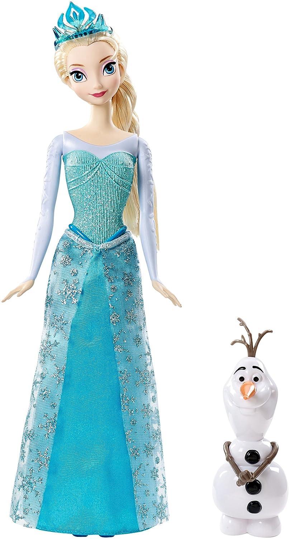 Mattel  - Muñeca Elsa con Olaf Frozen, el Reino de Hielo