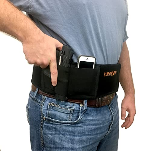 Belly Band Concealed Carry Right Handed Holster for Women and Men
