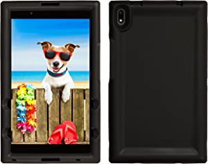 BobjGear Bobj Rugged Tablet Case for Lenovo Tab 4 8 Plus (TB-8704V, TB-8704F, TB-8704X, TB-8704A) - BobjBounces Kid Friendly (Bold Black)