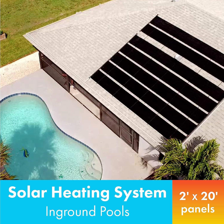 Smart Pool S601 Pool Solar Heaters Pack Of 1 Black Swimming Pool Heaters Garden Outdoor