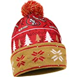 NFL San Francisco 49ers Busy Block Printed Light Up Beanie, One Size, Red