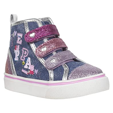 5c46e5a4901a Peppa Pig Denim High Tops for Toddler Girls Blue Pink