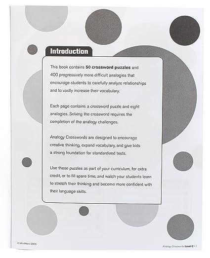 Amazon.com: MindWare - Analogy Crosswords: Level C - 50 Puzzles ...