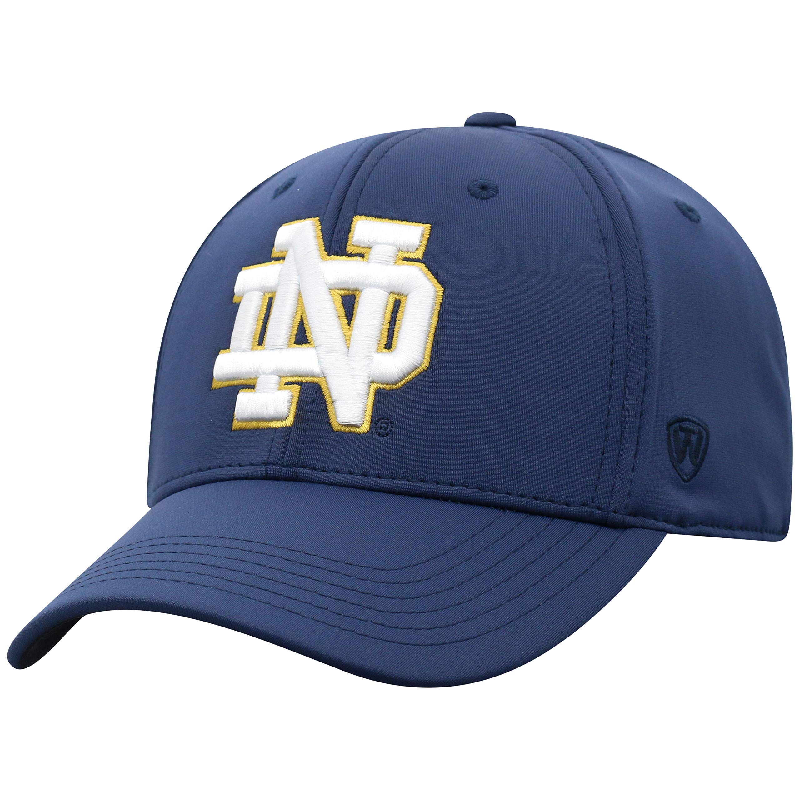 buy online 800d0 19bb1 Top of the World NCAA Notre Dame Fighting Irish Men s One Fit Phenom Team Icon  Hat, Navy