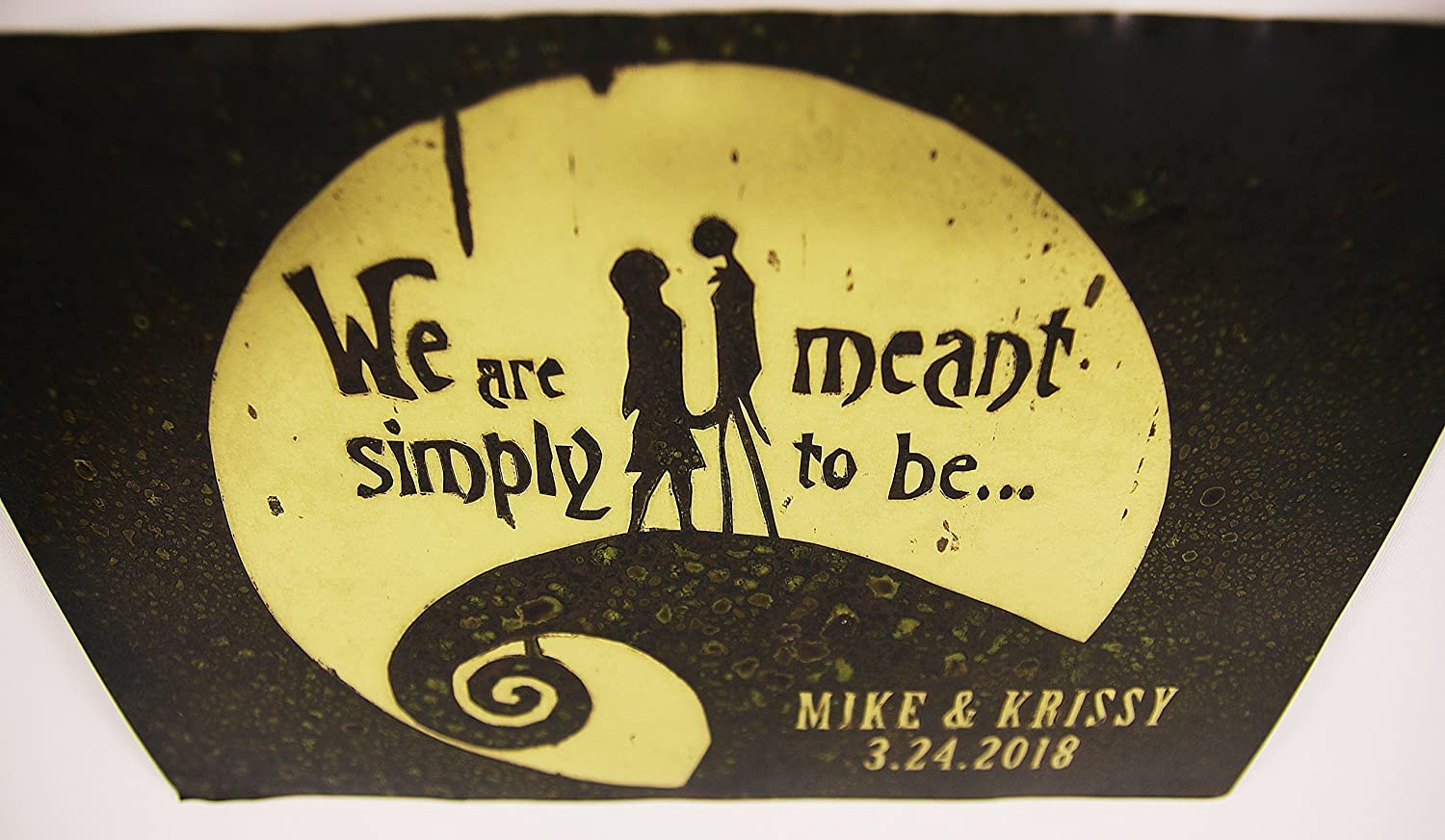 Amazon.com: Nightmare before Christmas, Jack and Sally personalized ...