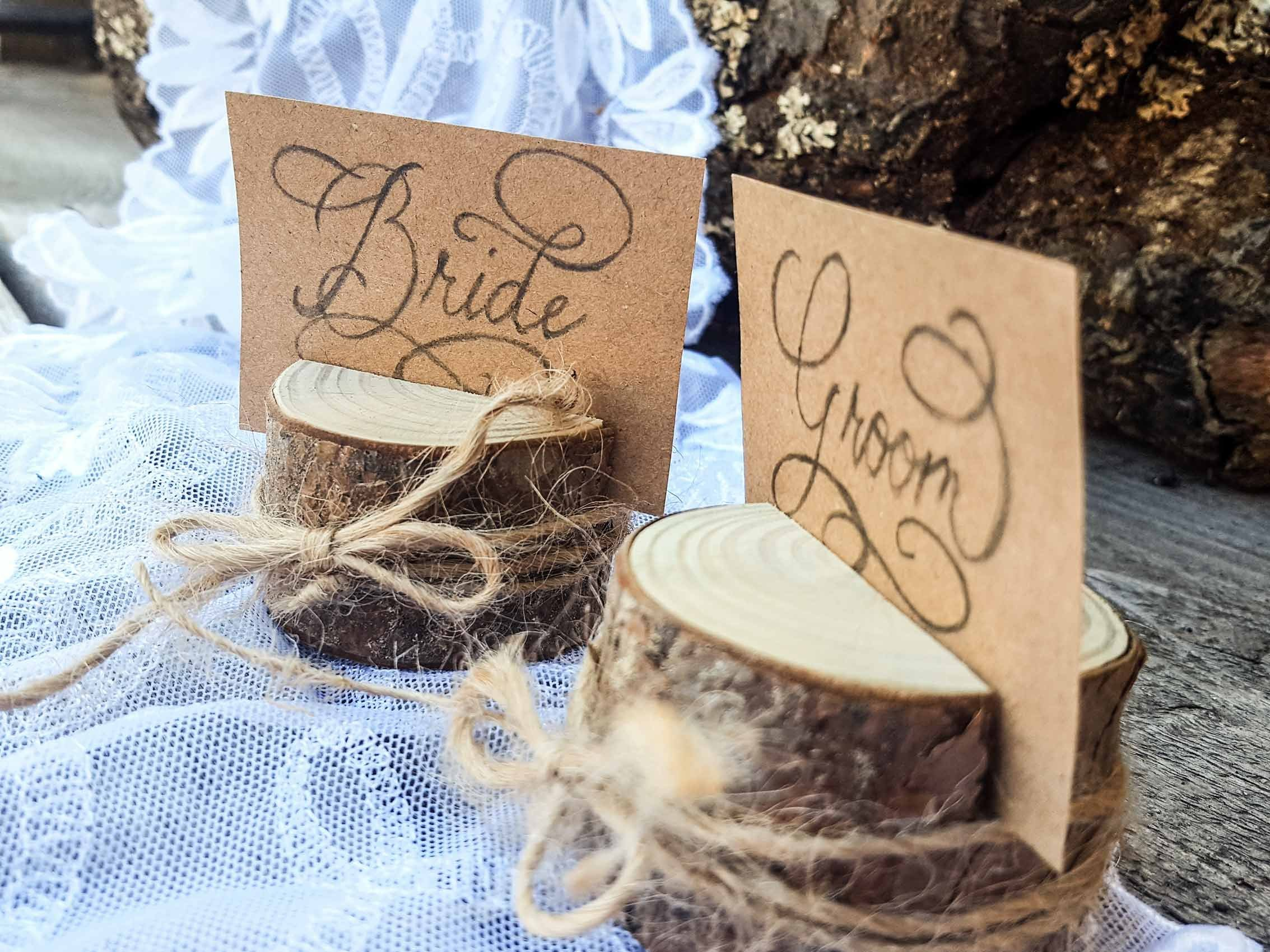 Set of 100 pine tree branch place card holders, name card holders, rustic card holder, shabby chic, natural card holder, 100 card holders, Scandinavian card holders, wooden card holders