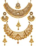 YouBella Gold Plated Alloy Necklace Set for Women - Pack of 2