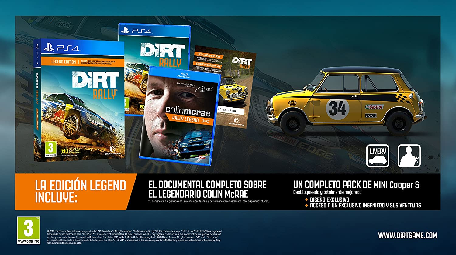 Dirt Rally - Standard Edition: Amazon.es: Videojuegos