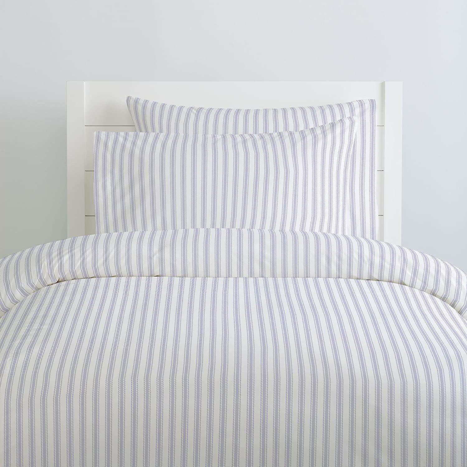 Amazoncom Carousel Designs Lavender Ticking Stripe Duvet Cover Queenfull Size