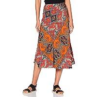 Amazon Brand - find. Women's Printed Summer Midi Skirt