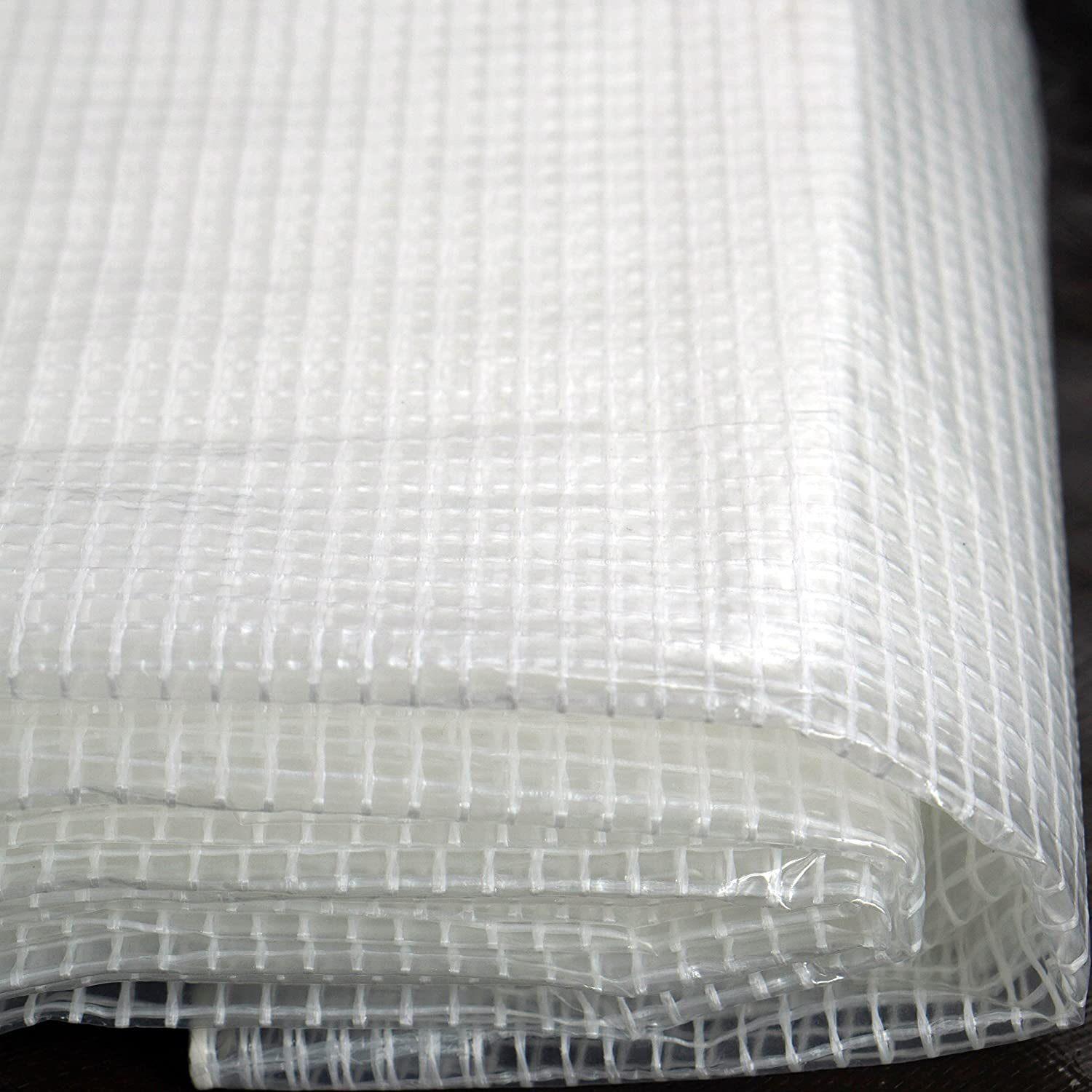 UV Coated Protection for Outdoor Camping RV Truck and Trailers Watershed Innovations Premium Quality 10 mil with 3x3 Mesh Weave for Added Strength 16ft x 20ft Heavy Duty Clear Greenhouse Tarp