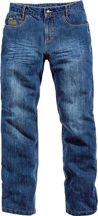 Flm Motorrad Jeans Motorradhose Sports Aramid Baumwolljeans 1 0 Schmutzabweisendes Material 2 Einschubtaschen Höhenverstellbare Knieprotektoren Taschen Für Hüftprotektoren Blau 40 34 Bekleidung