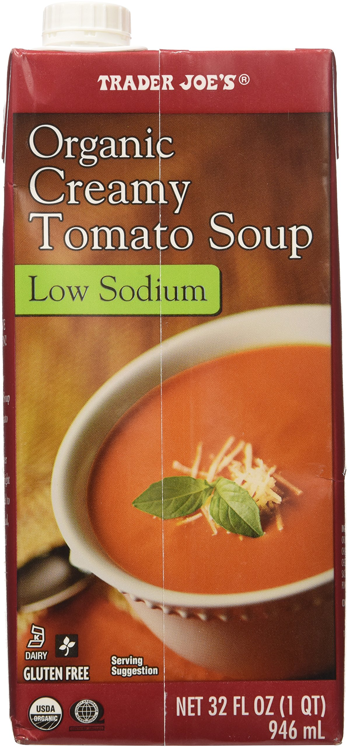 2 boxes of Trader Joe's Organic Creamy Tomato Soup Low Sodium Gluten Free