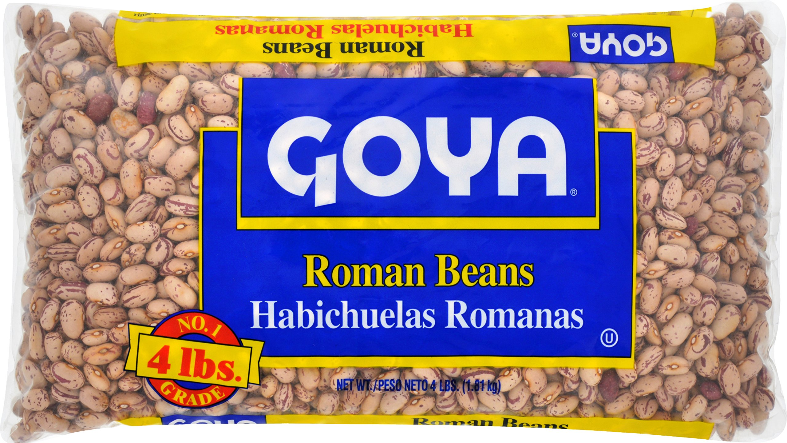 Goya Foods Dry Beans Bag, Roman, 4 Pound by Goya