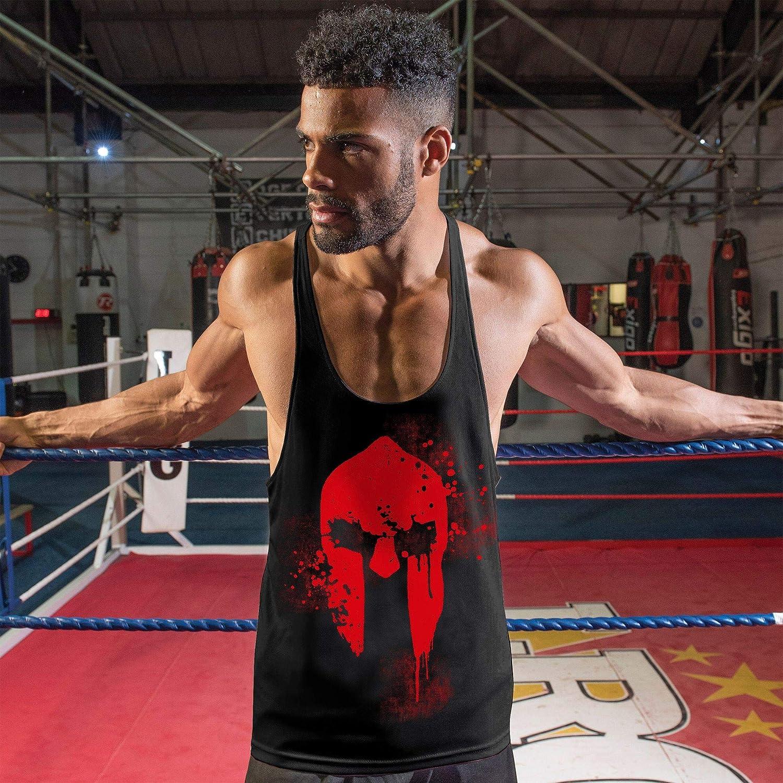 Stylotex Stringer Fitness Tank Tops Spartan Helmet Herren Gym Tshirts f/ür Performance beim Training Funktionelle Sport Bekleidung M/änner /ärmellos