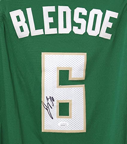 info for 2f8fc 72f42 Eric Bledsoe Milwaukee Bucks Signed Autographed Green #6 ...