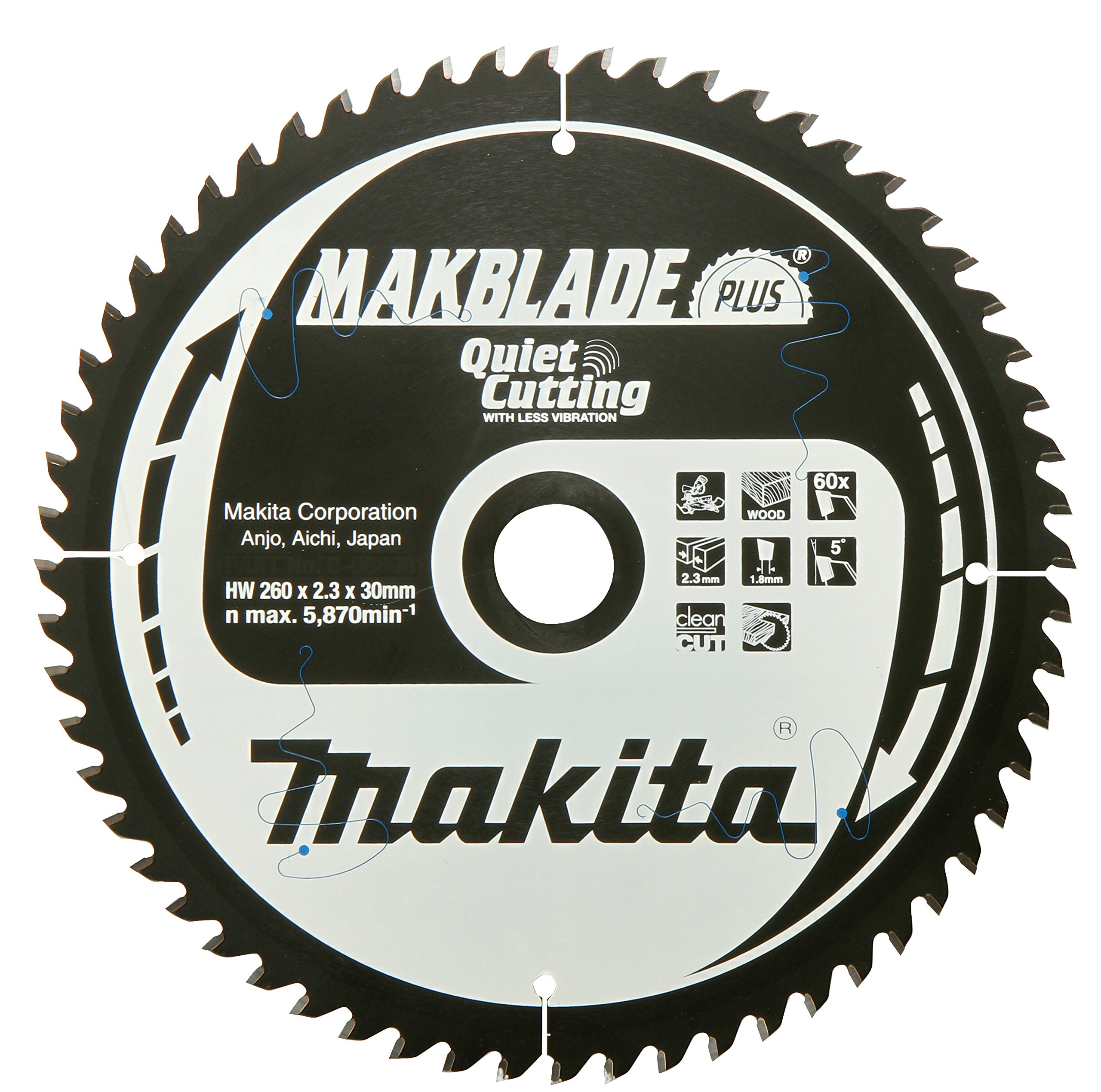 B-33473 Makblade Saw Blade 7.87inx30mm 36Teeth by Makita (Image #1)