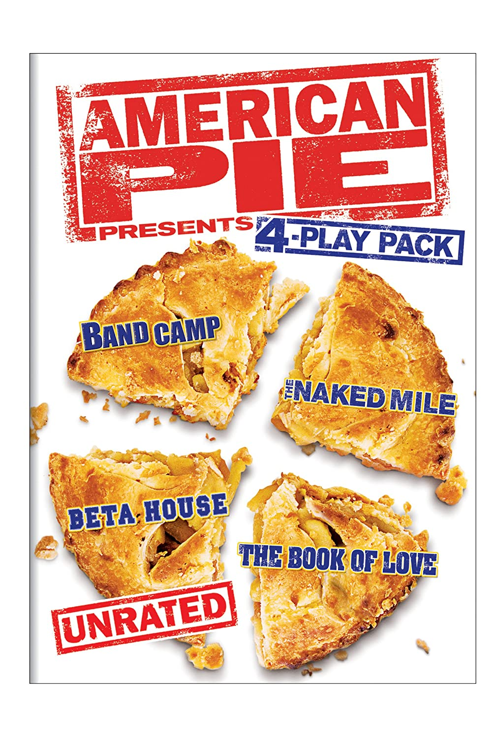 American Pie Presents Unrated 4 Play Pack Band Camp The Naked Mile Beta House The Book Of Love Tad Hilgenbrinck Eugene Levy Christopher Mcdonald Bug Hall Arielle Kebbel John