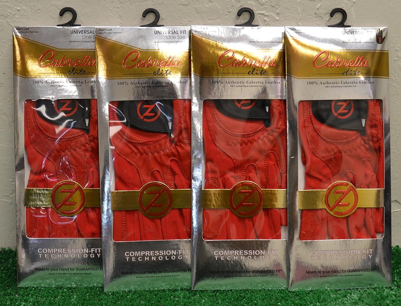 4ゼロ摩擦羊Elite Men 's LHゴルフ手袋 – 1つサイズ – レッド – gl70008   B0784HP5T3