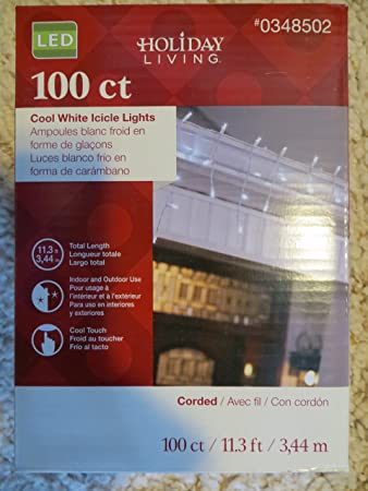 Holiday Living 100-Count Constant White Micro LED Plug-In Christmas Icicle Lights ENERGY