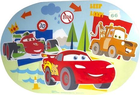 Pixar Cars Lightning McQueen and Mater - Mantel individual ovalado para niños