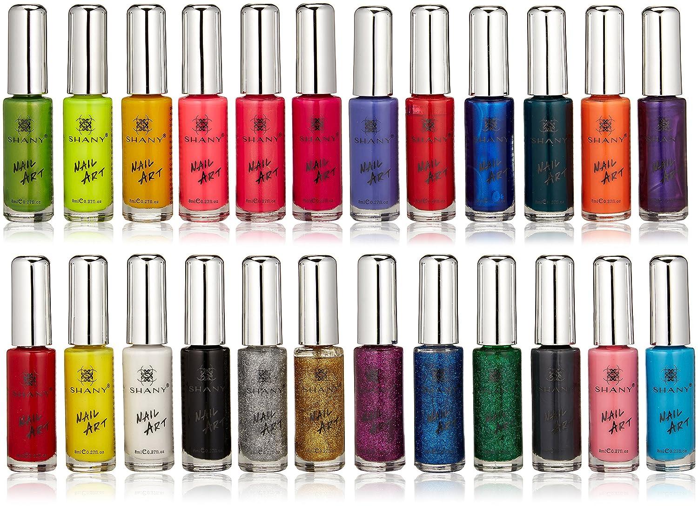 Amazon Shany Nail Art Set 24 Famous Colors Nail Art Polish